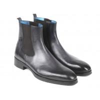 Paul Parkman Black & Gray Chelsea Boots